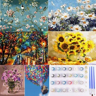 Diy Oil Painting Kit Paint By Numbers Beginners Frameless Adult Children Gifts • 5.82£