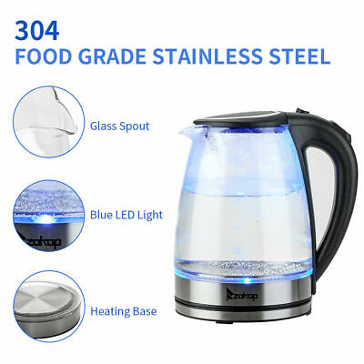 £12.95 • Buy Electric Kettle 360°Cordless Stainless Steel Jug 1.8L Boil Dry Protection UK