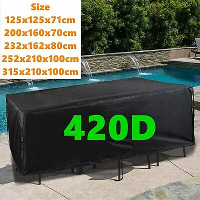 Heavy Duty Garden Patio Furniture Table Cover For Rattan Table Cube Set Outdoor • 35.72£