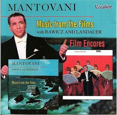 Mantovani With Rawicz & Landauer - Music From The Films + Film Encores (2004) CD • 4.19£
