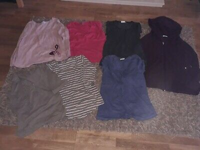 Maternity Tops And Hoody Clothes Bundle Size 10-12 • 8£