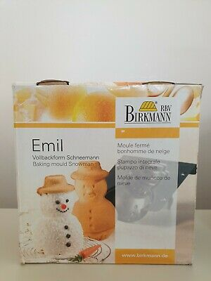 Birkmann 3D Snowman Cake Tin Baking Mould German Christmas 600ml • 13.99£
