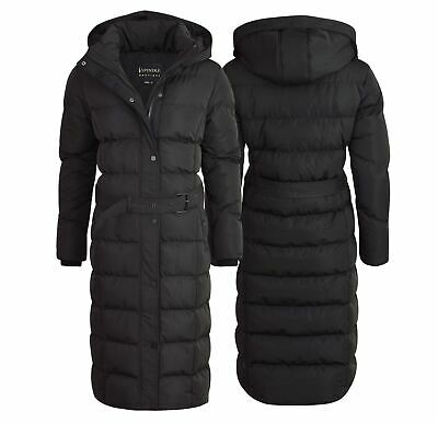 Spindle Womens Extra Long Hooded Maxi Puffer Quilted Winter Parka Coat Jacket • 39.99£