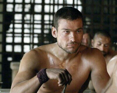 ANDY WHITFIELD Spartacus SHIRTLESS NEW  8X10 GLOSSY PHOTO ZBP 67 • 7.06£