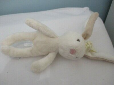 Mamas And Papas Millie Bunny Rabbit Cream Soft Toy Baby Comforter Rattle Small • 4£