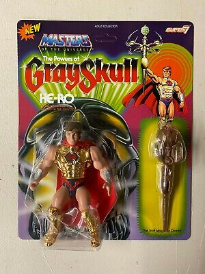 $34.98 • Buy Super7 Masters Of The Universe Power Of Gray Skull HE-RO Action Figure MOTU MOC