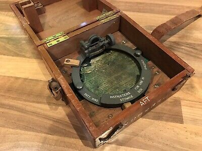Rare Vintage Ships Compass Azimuth Circle Patt 1880 Brass Maritime Nautical Boat • 135£