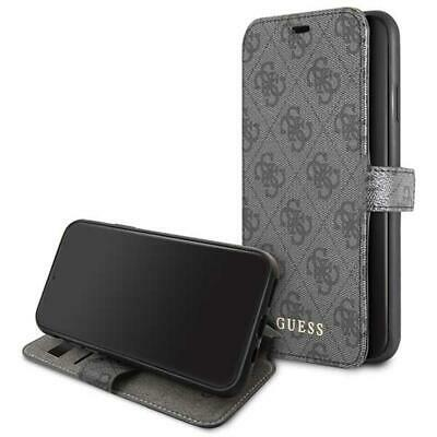 Genuine GUESS 4G Collection Stand Book Case For IPhone 11 Pro Max In Black • 25.95£