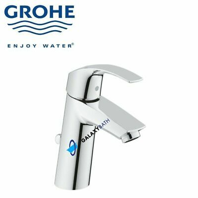 Grohe Eurosmart Tall Single Lever Mixer Tap Medium Pop-up Waste New Modern Style • 79.99£