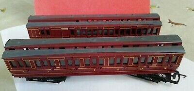 2x Hornby 00 Gauge LMS Coaches No's. 6438 And 4863, 1st/3rd And 3rd Class • 4.40£
