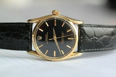 $ CDN7500 • Buy Vintage Rolex Oyster Perpetual 6593 In 14k Yellow Gold Cal.1030 25j. 18kt Buckle