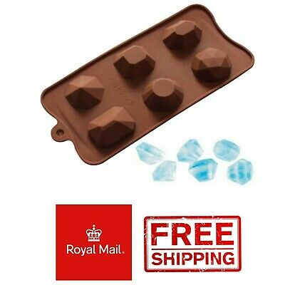 Diamond Silicone Mould Chocolate Ice Cube Tray Soap Gem Stones Wax Melts Mold • 2.99£