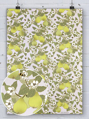 £3.75 • Buy Emily Burningham Pretty Floral Wrapping Paper Gift Wrap Quince Bees Flowers Cute