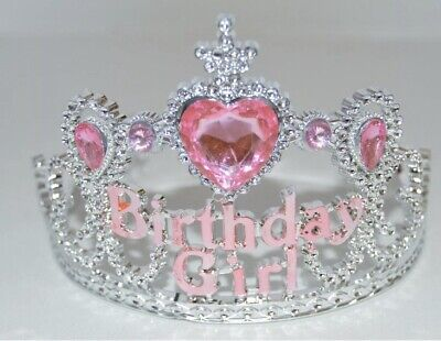 NEW Plastic Silver Childrens Birthday Girl Tiara Hair Accessory Party Prom  • 6.80£