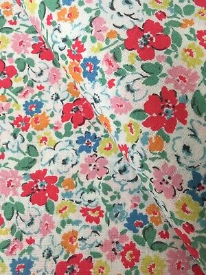 50cm By 45cm Wide Cath Kidston Ditsy Mews Haberdashery Fabric Cotton New • 5.99£
