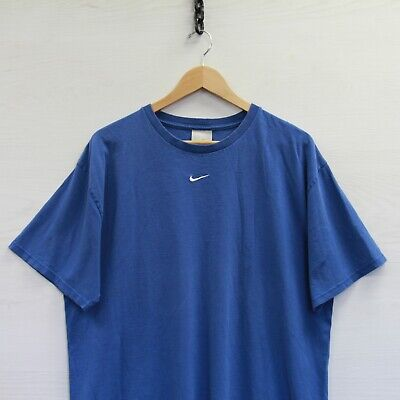$ CDN52.71 • Buy Vintage Nike T-Shirt Size Large Blue Embroidered Middle Swoosh