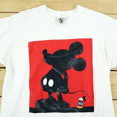 $ CDN52.73 • Buy Vintage Mickey Mouse T Shirt Men's Large White 1990s Disney