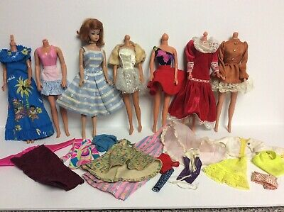 $ CDN39.55 • Buy Vintage 1960s Barbie Fashion Queen Doll1 Wig, Necklace, Glasses & Extra Clothes
