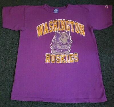 $ CDN27.68 • Buy Vintage Washington Huskies Champion T Shirt Large 90s