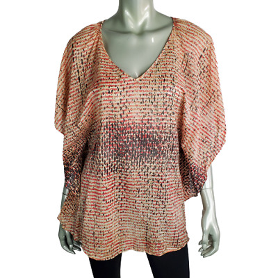 $ CDN6.58 • Buy Lil Anthropologie Womens Top Size 0 Kimono Sleeve V-Neck Pullover Cotton Casual