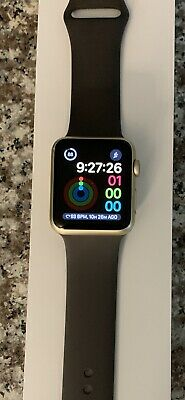 $ CDN112.05 • Buy Apple Watch Series 1 42mm Gold Aluminum Case Cocoa Sport Band