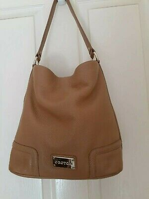 AU32 • Buy OROTON Dark Camel Genuine Soft,thick Leather Shoulder Bag GUC
