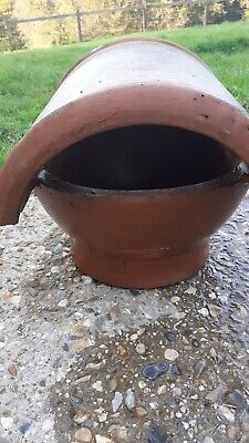 Terracotta Clay Chimney Pot With Cap • 14£