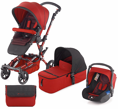 View Details Jane Epic Pushchair + Micro Carrycot + Koos Car Seat And Isofix Base S53 Red • 300.00£