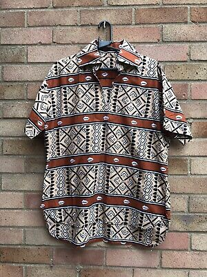 Mens Short Sleeve Casual Shirt Tunic Size L • 10£