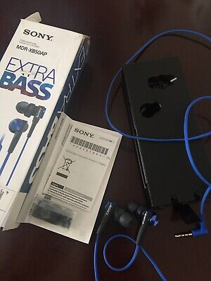Sony MDRXB50AP Extra Bass In-Ear Headphones Blue • 10.99£