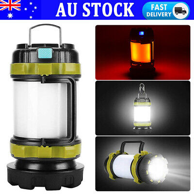 AU23.49 • Buy Portable LED USB Rechargeable Camping Lantern Hiking Tent Outdoor Lamp Light