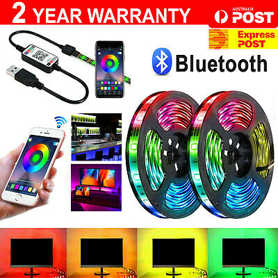 AU21.99 • Buy 12V Bluetooth USB RGB LED Strip Lights IP65 Waterproof 5050 5M 300 LEDs AU Stock