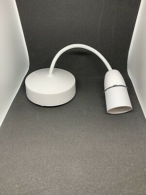 Ceiling Light Fittings Rose Set With Lamp Holder Pendant & 6 Inch Flex Cable • 2£