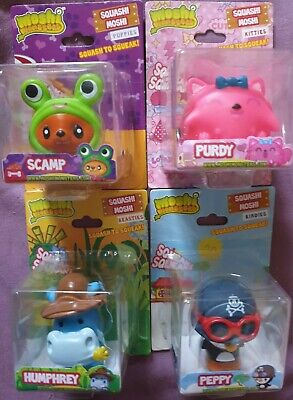 Official MOSHI MONSTERS - SQUASHI MOSHI With Sound. NEW SEALED. 4 Different Toys • 7.99£