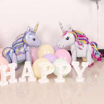 AU5.99 • Buy 60cm 3D Standing Foil Unicorn Balloon Birthday Baby Party 3 Colour AU Stock