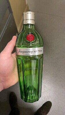 Empty Tanqueray No 10 Gin Bottle 70cl Collectable Upcycling • 2£