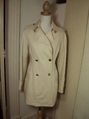 AU42 • Buy   Massimo Dutti Cream Trench  Swing Jacket Coat.