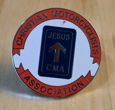 Cma Jesus Motorcycle Bike Pin Badge • 1.99£