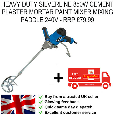 850w Cement Plaster Mortar Paint Mixer Mixing Paddle 240v  • 42.95£
