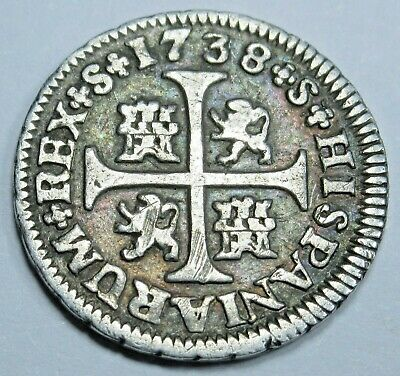 $ CDN138.41 • Buy 1738 Spanish Silver 1/2 Reales Antique Colonial Cross 1700s Pirate Treasure Coin
