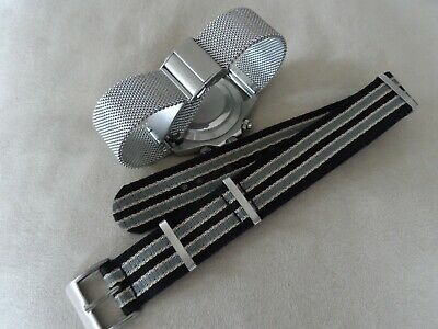 2 James Bond No Time To Die Watch Straps Milanese Mesh And Nato For Omega 20mm • 34.95£