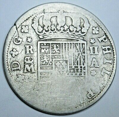 $ CDN65.90 • Buy  1700's Spanish Silver 2 Reales Authentic Antique Colonial Two Bits Pirate Coin