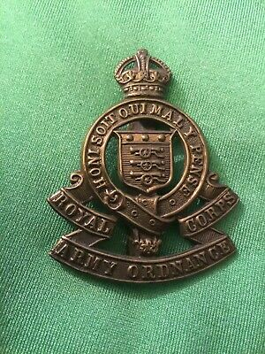 Military Cap Badge - Royal Army Ordnance Corps (100%) • 8.25£