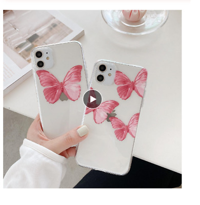 Butterfly Silicone Soft Transparent Phone Case For IPhone 11 11 Pro Max 8 7 Plu • 6.84£