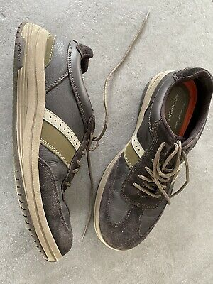 Mens Rockport Brown Leather Casual Shoe UK8 • 3.50£