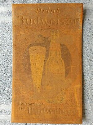 $ CDN52.73 • Buy Vintage Drink Budweiser Beer Rustic Tin Sign 15 X 9 In.