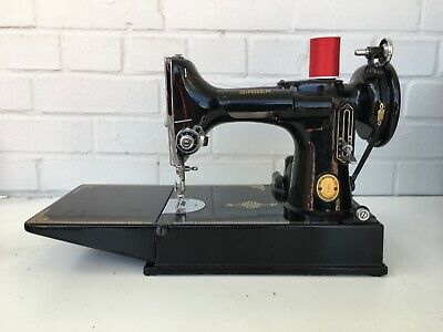 $250.50 • Buy Super Clean Vintage Singer Featherweight 221 Sewing Machine W Case Many Extras