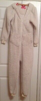 Ladies Supersoft Hooded One-Piece, Debenhams, Cream, Polar Bear Design, Size 8 • 11.99£