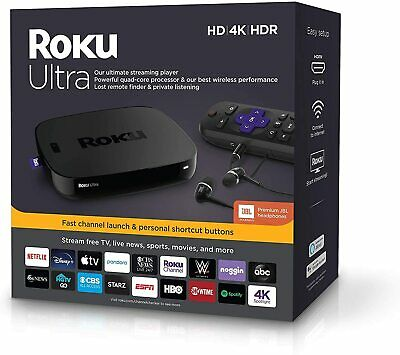 AU194.99 • Buy Roku Ultra 4670R UHD HDR Streamer For NETFLIX PLEX AMAZON PRIME VIDEO DISNEY+