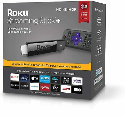AU117.50 • Buy Roku Streaming Stick Plus 3810R ULTRA 4K UHD HDR  HD NETFLIX PLEX PRIME VIDEO